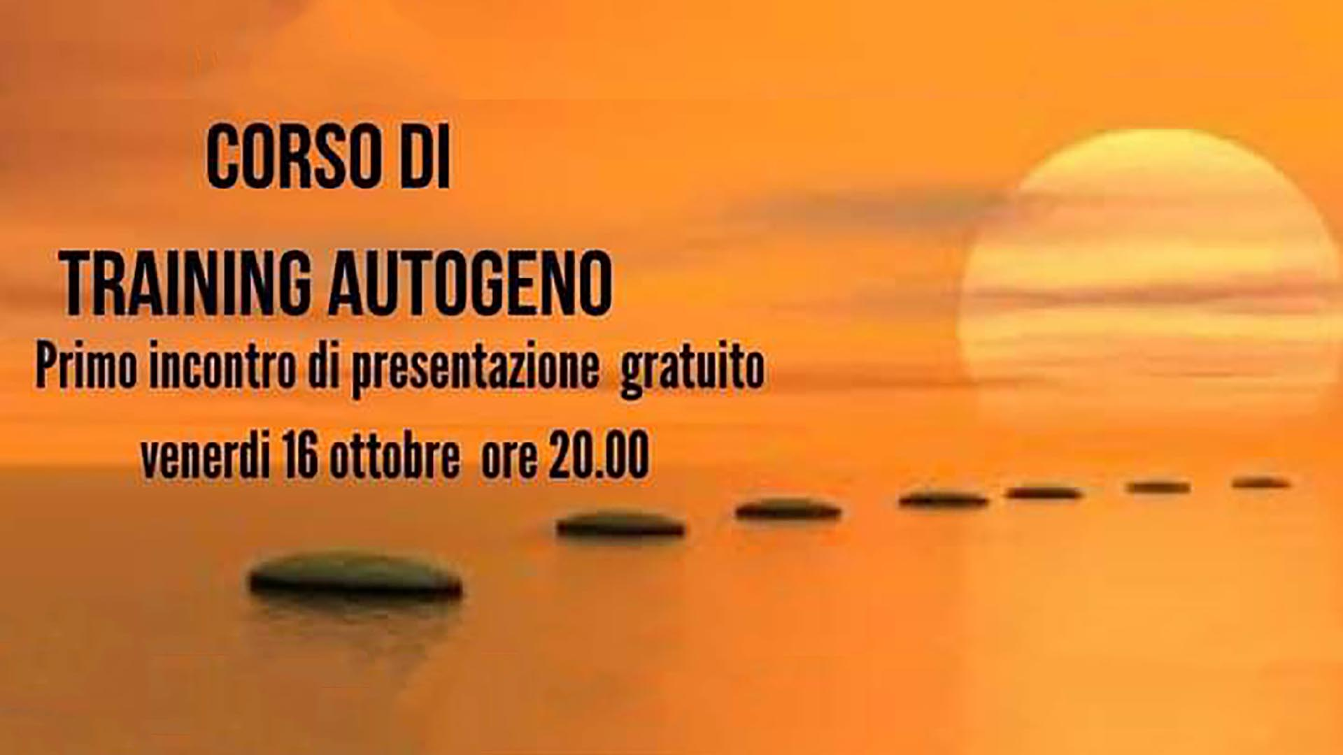 Corso Training Autogeno 16 10 2020